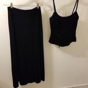 Moda International Evening wear corset top & skirt